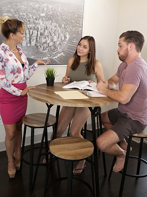 Cherie Deville seduces her student Blair Williams and Blairs stepbrother