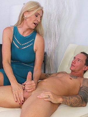 Blonde Mature Wife Blowjob