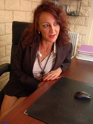 Mature Anal in her Office