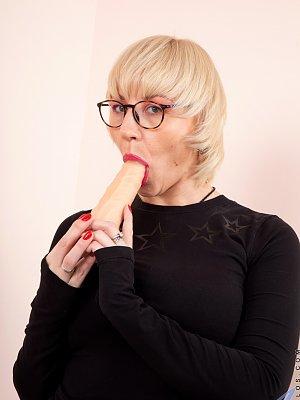 Blonde Wife Dildo Play