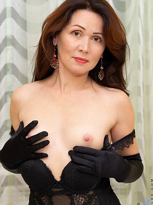 Hot Wife in sexy black outfit